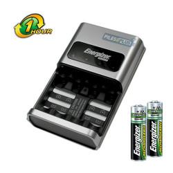 Chargeur de piles rapide 1h Energizer + 2AA HR6 2450mAh Gratuites
