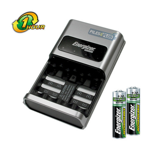 chargeur de piles rapide energizer 1 hour charger 2 aa hr6 2450mah gratuites. Black Bedroom Furniture Sets. Home Design Ideas