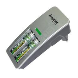 Mini chargeur de piles Energizer + 2 AA HR6 2000mAh incluses