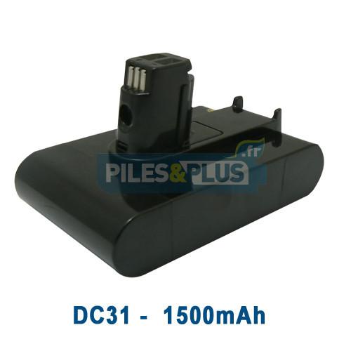 batterie pour aspirateur dyson dc31 22 2v 1500mah li ion batterie aspirateur dyson piles et plus. Black Bedroom Furniture Sets. Home Design Ideas