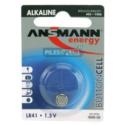 Pile bouton LR41 - V3GA - pile alcaline 192 Ansmann 1,5V - par 1