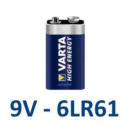 Pile 9V 6LR61 - Pile Carrée Alcaline - Varta High Energy - VA4922