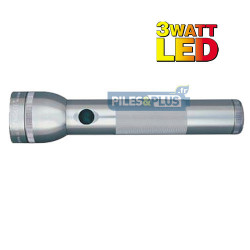 Lampe torche Maglite LED 2D grise - ML2 - 25,4cm - LED 3W