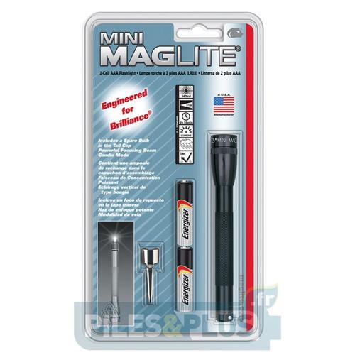 Lampe Maglite super mini AAA noire + 2 AAA
