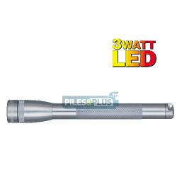 Lampe Mini Maglite LED 3 watts Grise + 3 AA LR06