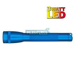 Lampe Mini Maglite LED 3 watts Bleue + 2 AA LR06