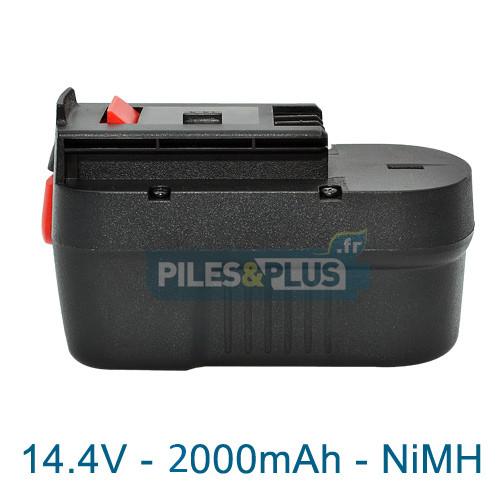 Batterie pour Black et Decker type A14 - 14.4V NiMH 2000mAh