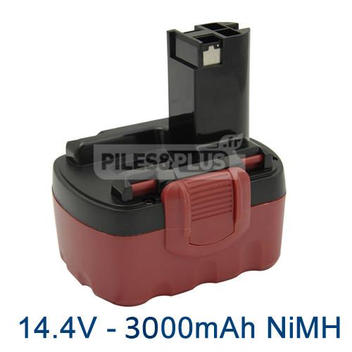 Batterie pour Bosch type 2607335694 - 14.4V NiMH 3000mAh