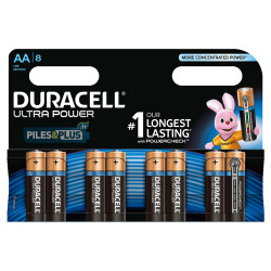 8 piles AA Duracell