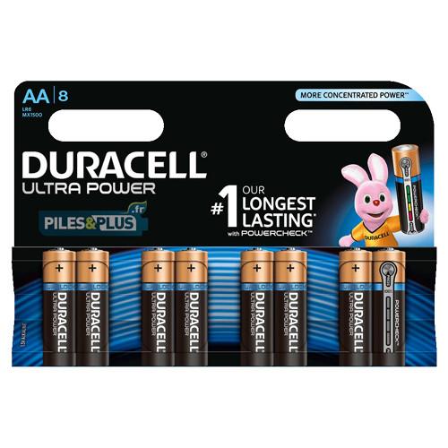 8 piles AA Duracell