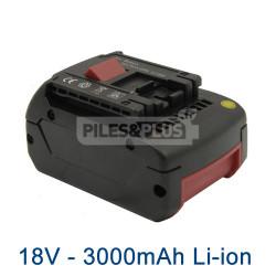 Batterie pour Bosch type 2607336235 - 18V Li-Ion 3000mAh