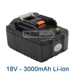 Batterie 18V Lithium-Ion 3.0Ah type Makita BL1830