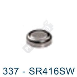 Pile montre 337 - SR416SW - oxyde d'argent Maxell - 1,55V - par 1