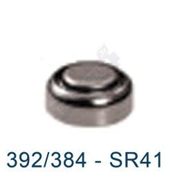 Pile montre 392 - SR41W - pile oxyde d'argent Maxell - 1,55V - par 1