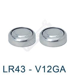 Pile bouton LR43 - V12GA - pile alcaline 186 Energizer 1,5V - par 2