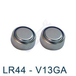 Pile bouton LR44 - V13GA - pile alcaline A76 Energizer 1,5V - par 2