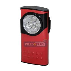 Boitier métal compact - 3 LED - Rouge