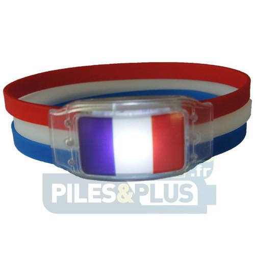 Bracelet lumineux pour supporter l'équipe de France