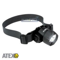 Lampe frontale ATEX antidéflagrante - double éclairage - Peli 2620