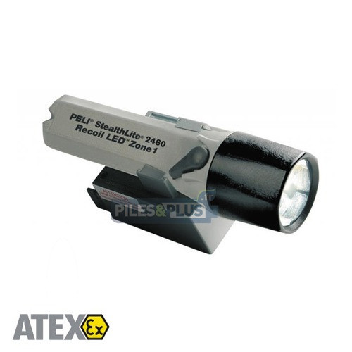 Lampe rechargeable ATEX antidéflagrante - Recoil LED - Peli 2460