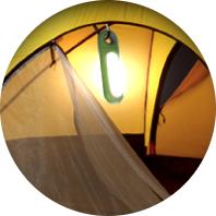 Eclairage sous la tente